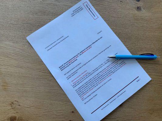 Musterbrief für Antrag Stromkostenerstattung