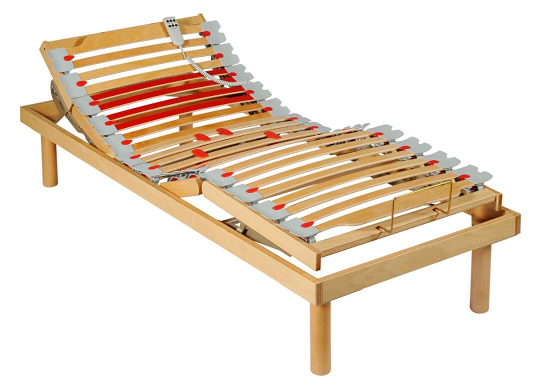 Zu einem komfortablen Seniorenbett gehört auf alle Fälle ein elektrisch verstellbarer Lattenrost.