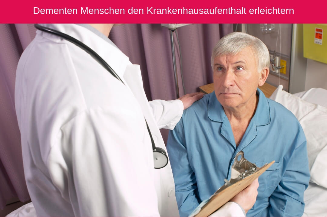 Dementzpatient im Krankenhaus. Sie benötigen viel Unterstützung von den Angehörigen