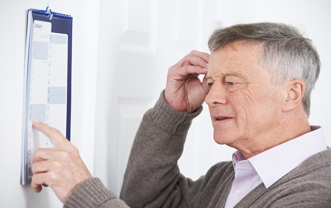 Demenz führt zur Vergesslichkeit