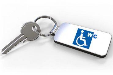 WC-Zentralschlüssel für Behindertentoiletten an Autobahnen und in Städten