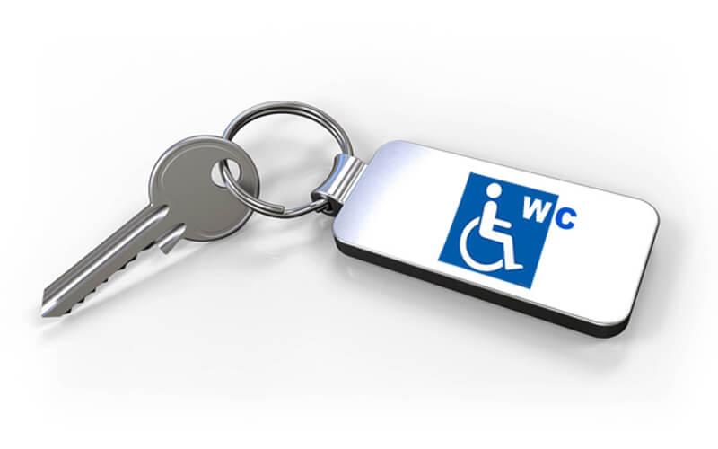 WC-Zentralschlüssel für Behindertentoiletten