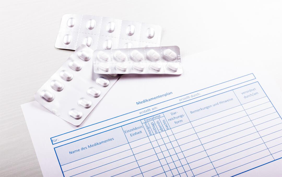 Wissen Sie, welches Ihrer Medikamente eventuellNebenwirkungen oder Wechselwirkungen mit Ihren anderen Medikamenten hat?