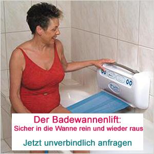 Badewannenlifter auch für die Mietwohnung geeignet.