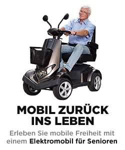 Mobil zurück ins Leben. Erleben Sie mobile Freiheit mit einem Elektromobil für Senioren