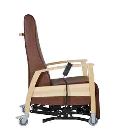 Pflegesessel in Sitzposition