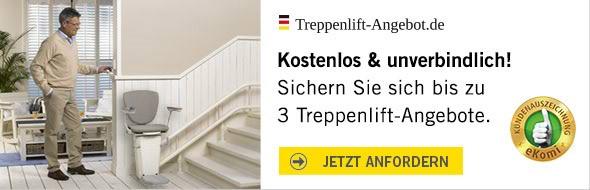 Bis zu 3 Treppenliftangebote kostenlos vergleichen