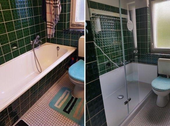 Umbau Wanne zur Dusche - Vorher-Nachher
