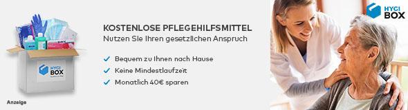 Pflegebedürftige Menschen können im Monat Pfegehilfsmittel im Wert von bis zu 40 Euro erhalten.