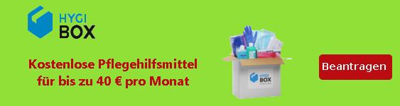 Pflegebedürftige Menschen können im Monat Pfegehilfsmittel i Wert von bis zu 40 Euro erhalten.