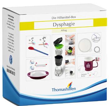 Dysphagiepatienten brauchen mit Fortschreiten der Krankheit spezielle Hilfsmittel, um das Schlucken zu erleichtern.