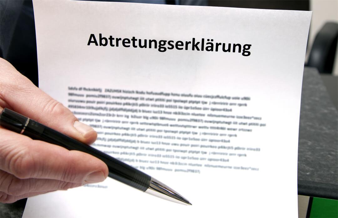 Vor- und Nachteile einer Abtretungserklärung sollten gut abgewogen werden
