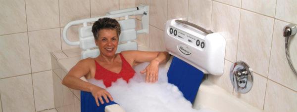 Ein Tuchlift ist ein einfach zu montierender Badewannenlift. Er minimiert das Sturzrisiko