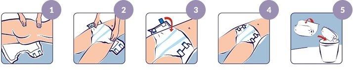 Anlegetechnik für Inkontinenzhosen bei Bettlägrigen