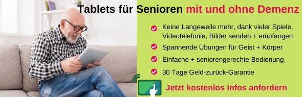 Seniorentablet: Spannung, Spiel + Wissen für Senioren MIT und OHNE Demenz