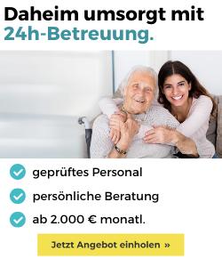 Alltagserleichterung durch 24h Pflegekräfte