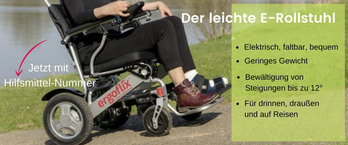 elektrischer Rollstuhl für drinnen, draußen und auf Reisen