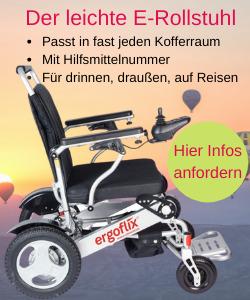 Elektrischer Rollstuhl, blitzschnell gefaltet