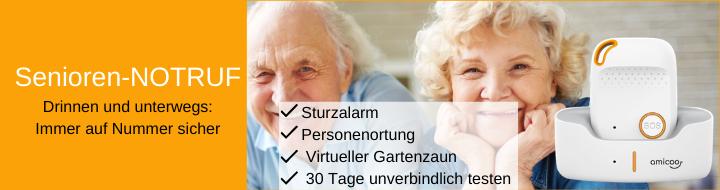 Senioren-Notruf für zuhause und unterwegs