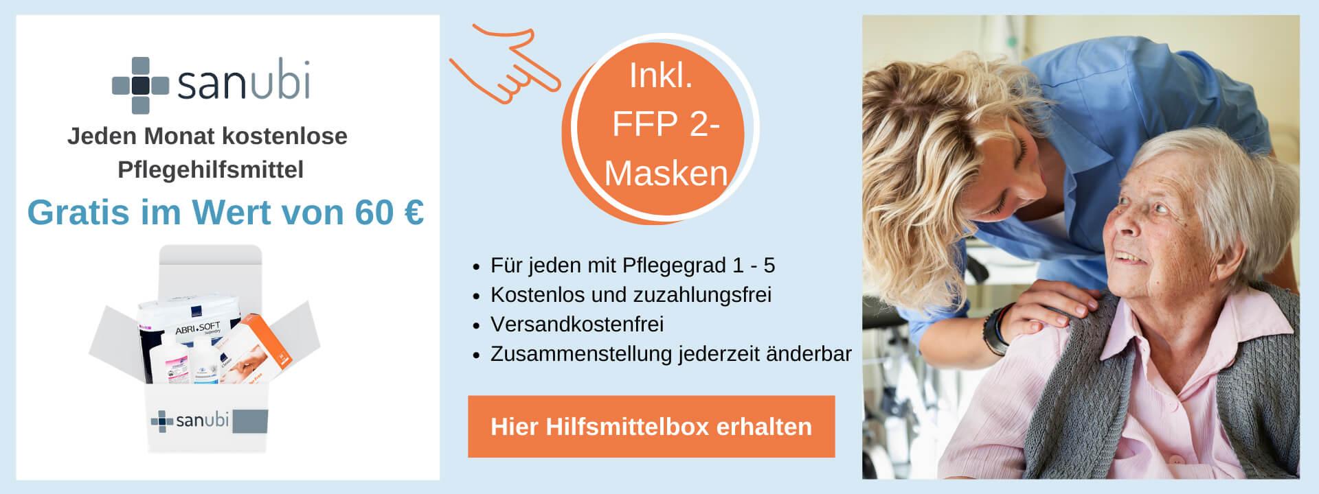 Zum Verbrauch bestimmte Pflegehilfsmittel für 60 Euro monatlich